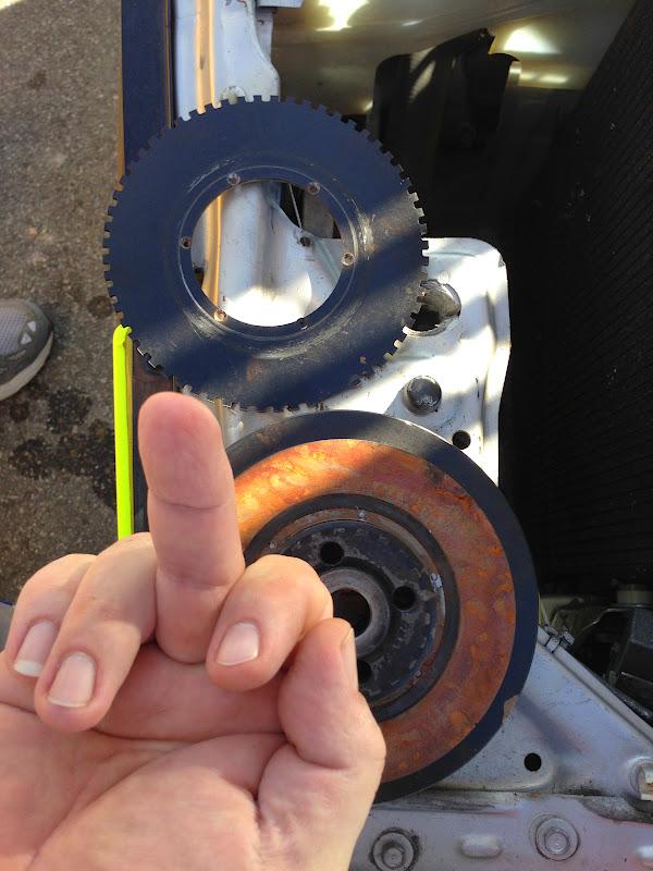 Sheared bolts on crank trigger wheel! :: motorgeek com