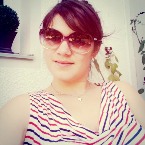 Fräulein Berger genießt die Sonne