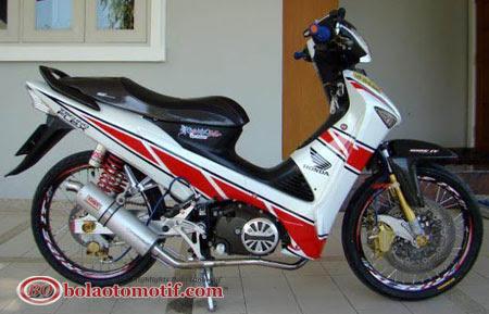 Modifikasi Extriem Motor Honda Supra X 125 e