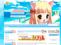 "Anime Heaven Blue ""Plantilla de Anime para Blogger"""