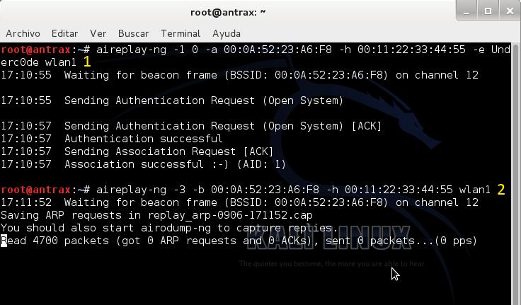 Reventando una red con cifrado WEP con un ataque ARP Request 5
