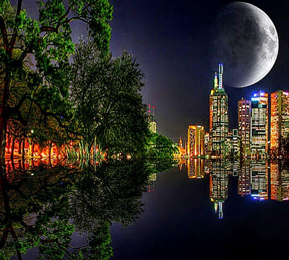 Wallpapers Waterfall Nature Hd Widescreen Beautiful Night View
