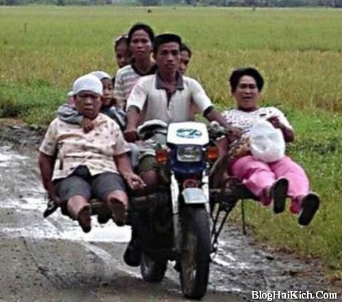 Ảnh vui xe máy chở nhiều người