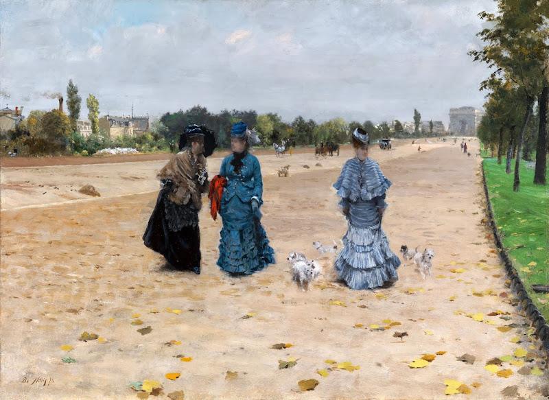 Giuseppe de Nittis - Avenue du Bois at Boulogne, 1874