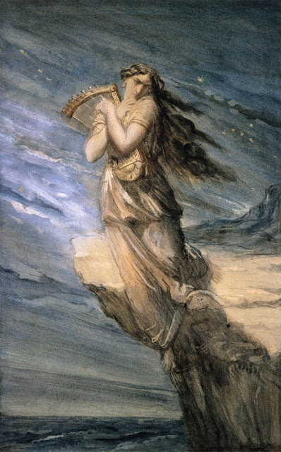 Théodore Chassériau - Sappho Leaping into the Sea from the Leucadian Promontory
