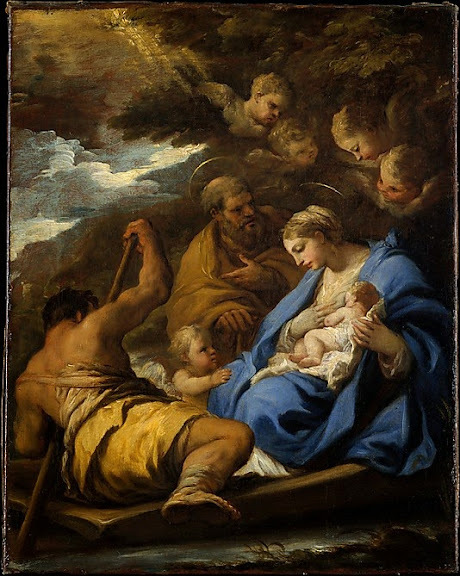 Luca Giordano - The Flight into Egypt