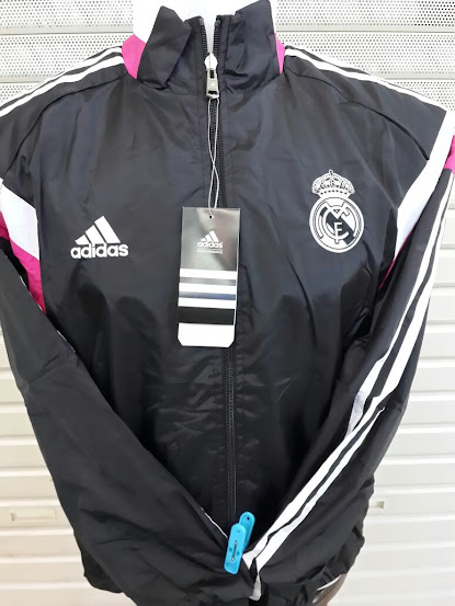 Jual Jaket Parasut Real Madrid Hitam 2014-2015