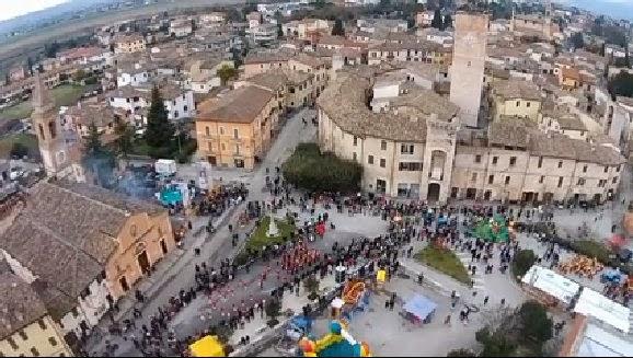 Sant'Eraclio dal drone