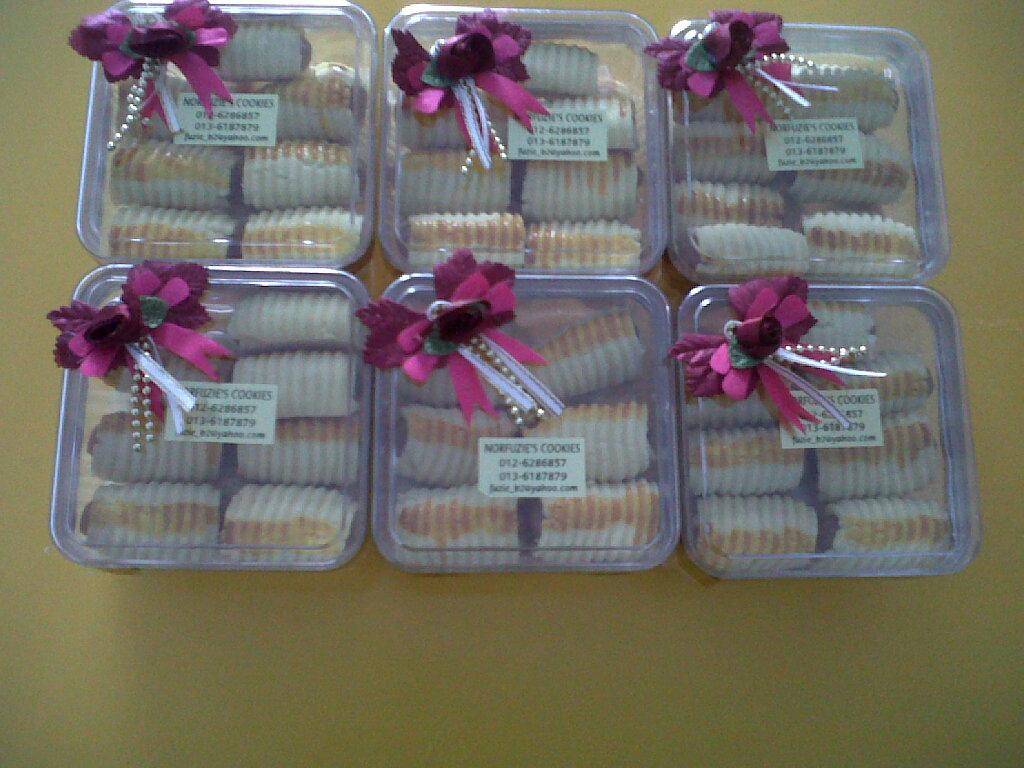 Norfuzie cookies cenderahati door gift for Idea door gift kahwin bajet