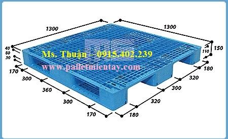 Pallet nhựa nhập khẩu 1300 x 1300mm