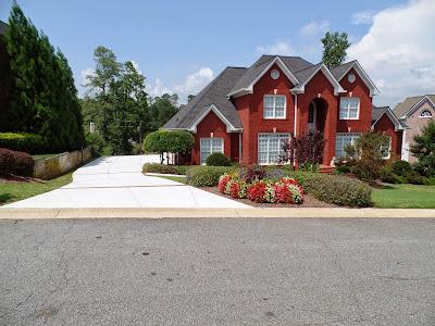 concrete patio, driveway and sidewalk ideas - marietta, atlanta - Driveway Patio Ideas
