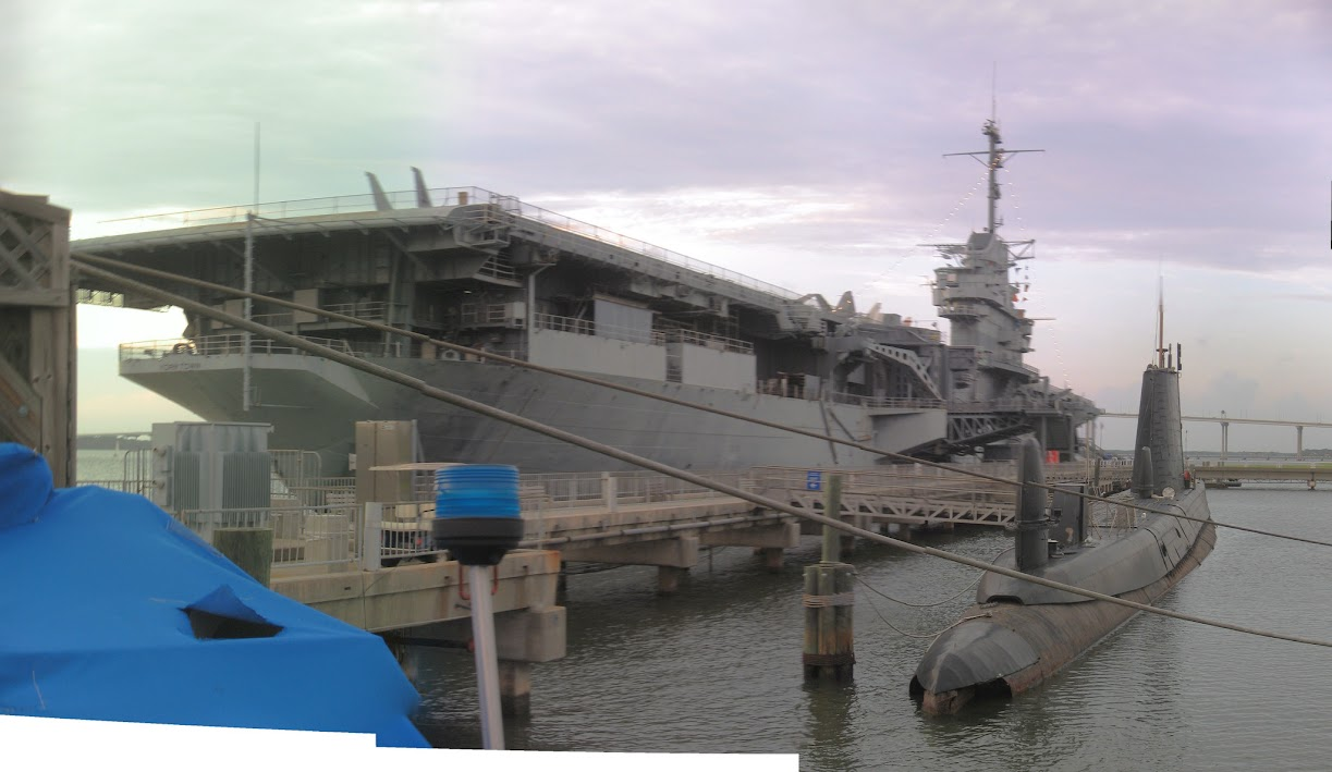 Charleston Harbor - USS Yorktown