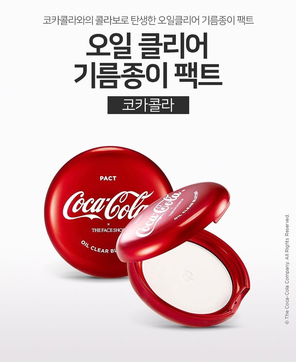 The Face Shop x Coca Cola Oil Clear Blotting Pack