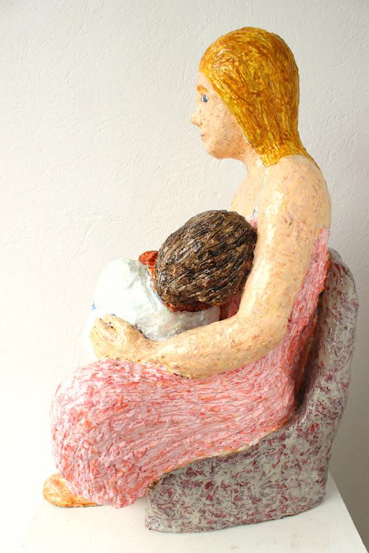 side view 2 of mare de déu amb el nen dormint ~ frank waaldijk