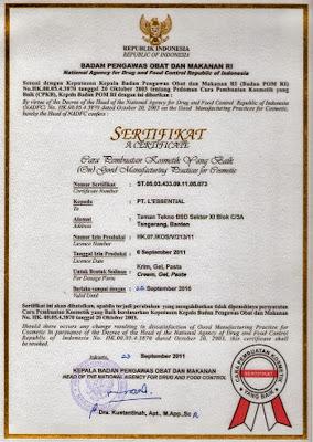 Sertifikat dan Legalitas Produk Theraskin