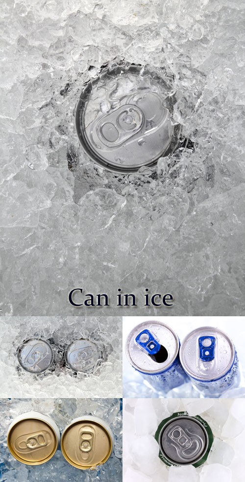 Stock Photo: Aluminum jar for drinks in ice