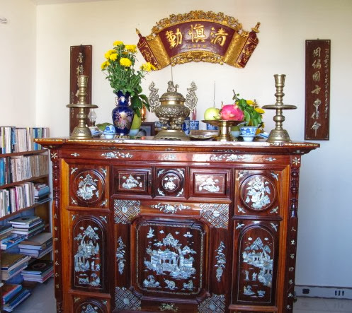 Phong thủy ban thờ tổ tiên mang may mắn