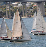 J/24 sailing in Hobart, Tasmania at Royal Hobart Regatta