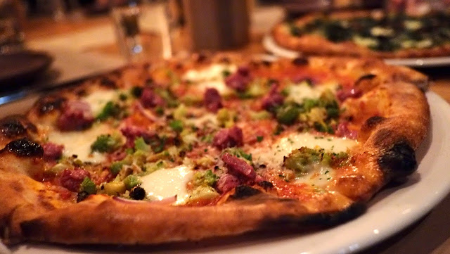 SF - Cotogna (Jackson Square) - sausage, romanesco, fior di latte mozzarella pizza