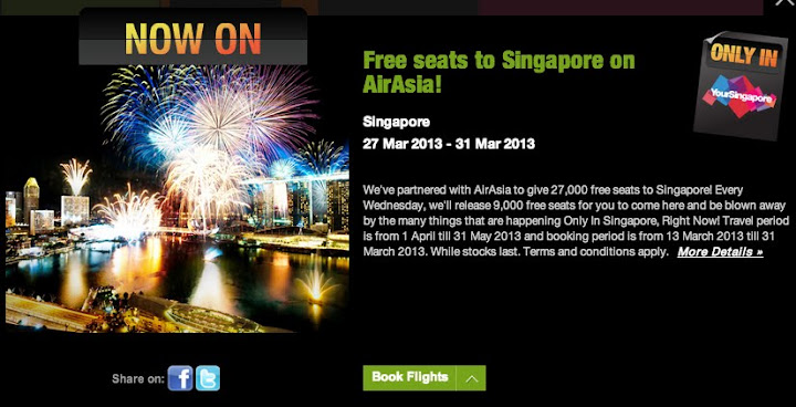 Free Seats AirAsia to Singapore