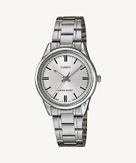 Jam Tangan Wanita Tali Kulit Hitam Casio Standard : LTP-E116L-1AV