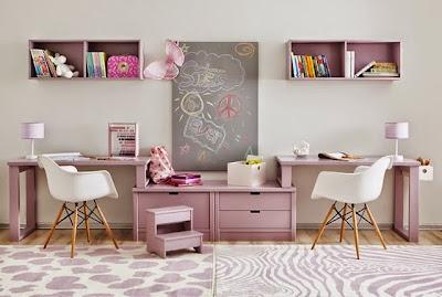 zona de estudio para dos rosa
