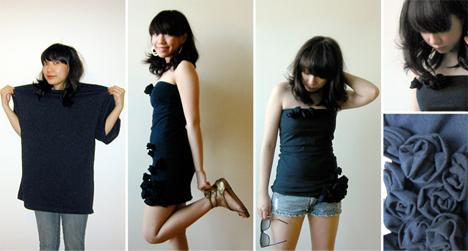 Transformando camiseta em vestido