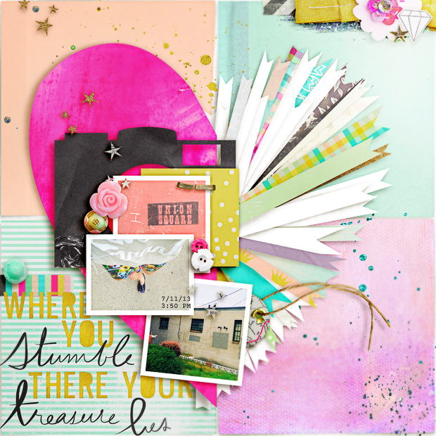 There Your Treasure Lies // 12x12 // Double the Trouble Templates #4 by Studio Basic