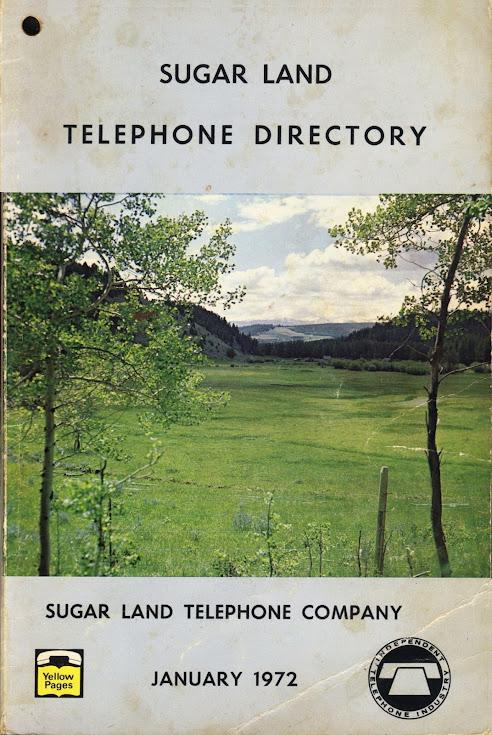 1972 Sugar Land Telephone Book