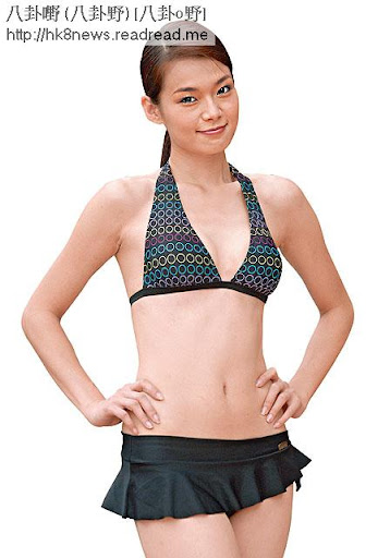 呂慧儀 06年參選港姐時身形甚弗,要腰有腰,跟現時有餡的她,的確差得很遠。