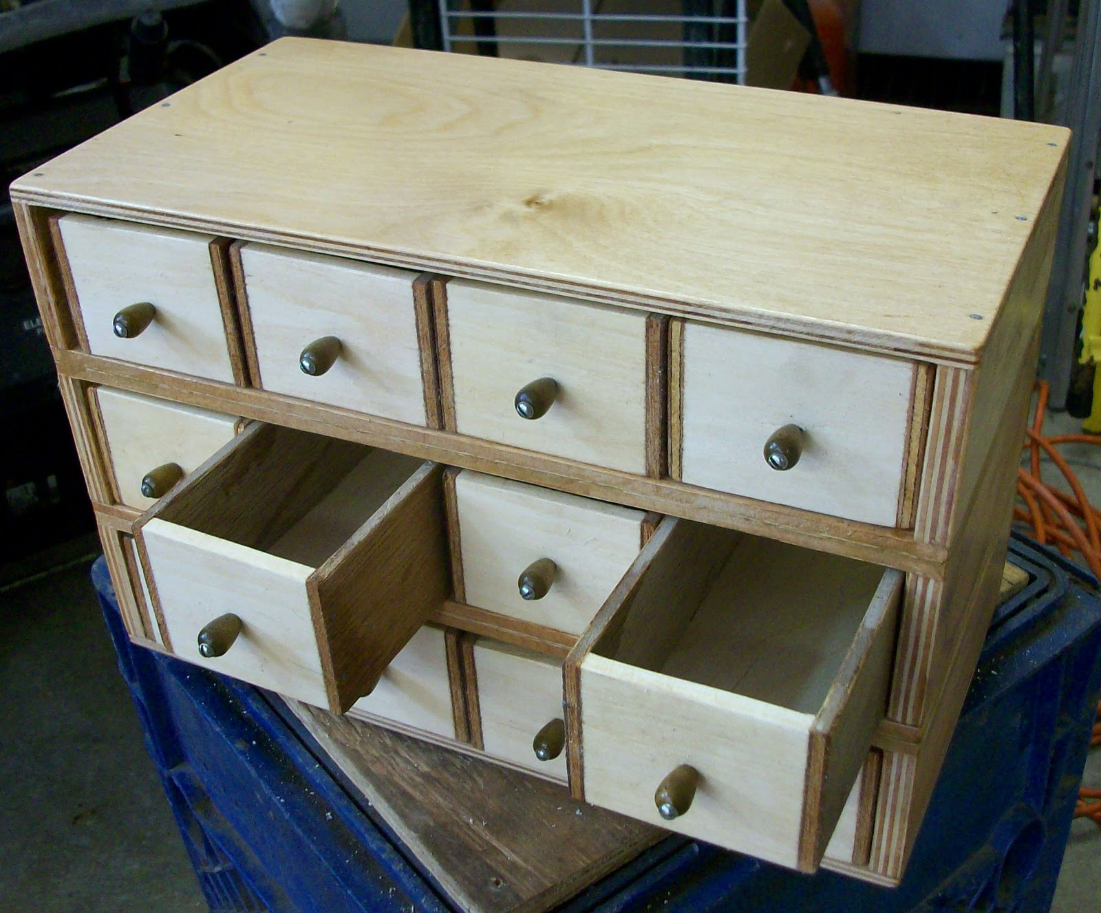 Not Long Ago, My Dad Said He Was Given Some Scrap Wood, And That He Was  Making Me Another Parts Cabinet With Little Drawers Similar To The Cheese  Box ...