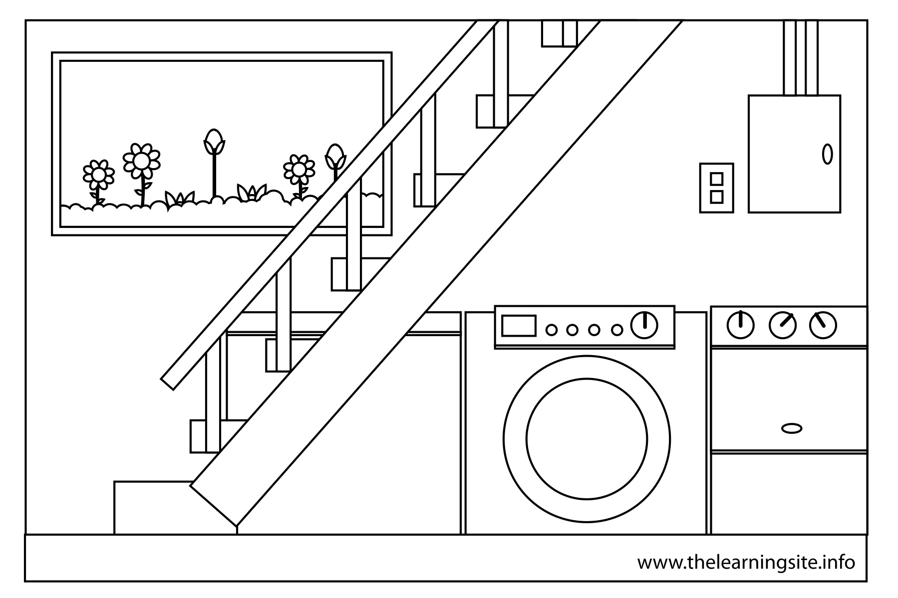 House Parts Coloring Page