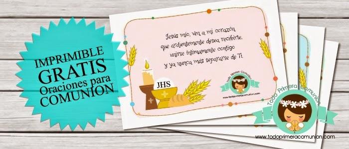 Imprimible Gratis 12 Oraciones Para Antes De La Comunión