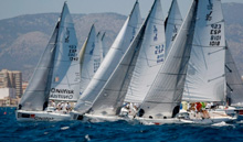 J/80 one-design sailboats- Spanish sailing teams training