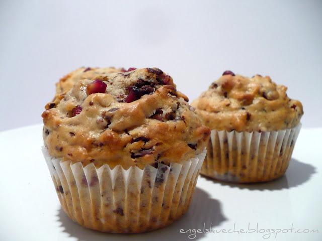 Essen aus Engelchens Küche: Nesrin's Granatapfel-Schoko-Muffins mit Kokos
