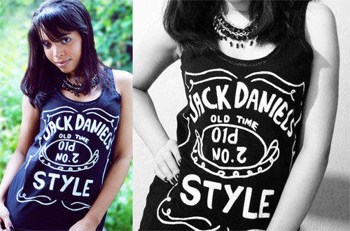 camiseta customizada Jack Daniel's