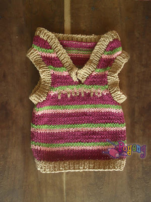 Knitting Pattern For Cat Sweater : Ajeng Belajar Merajut: Rajut Free Knitting Pattern : Cat Sweater Vest