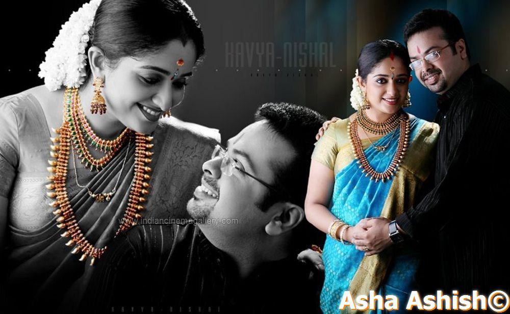 Kavya Madhavan Wedding Album designs - kavya madhavan marriage photo