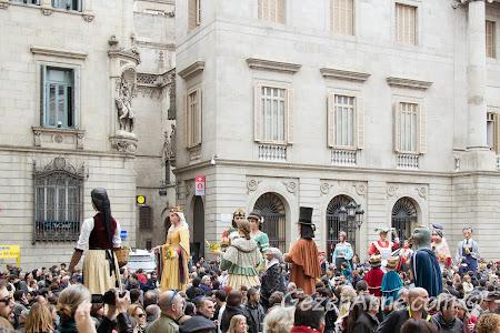 dev kuklalı Santa Eulalia festivali kutlamaları, Barselona