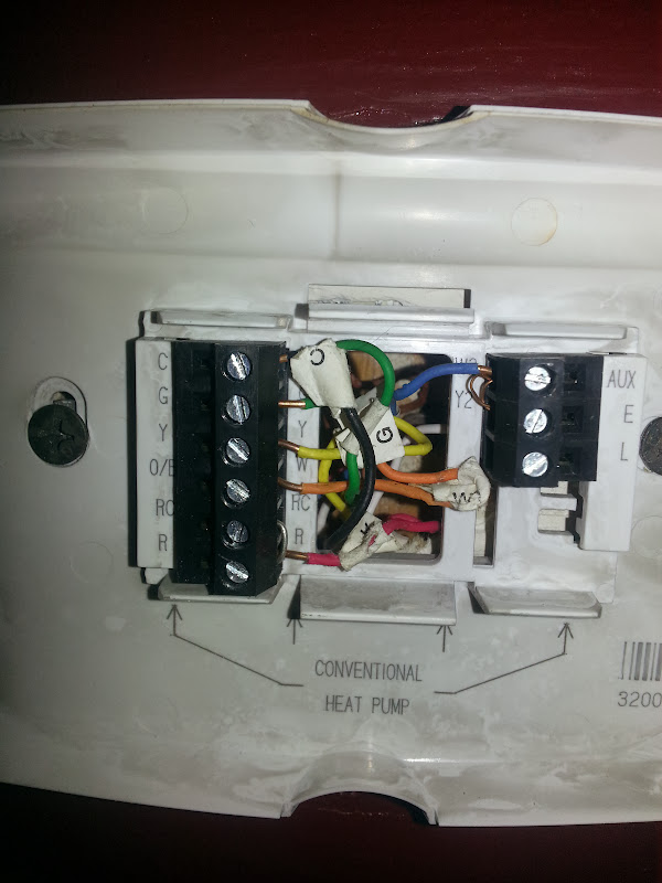 20131108_213216 house is sold, inspector came by (i wasn't here) and now honeywell,Honeywell Thermostat Rth7600d Wiring