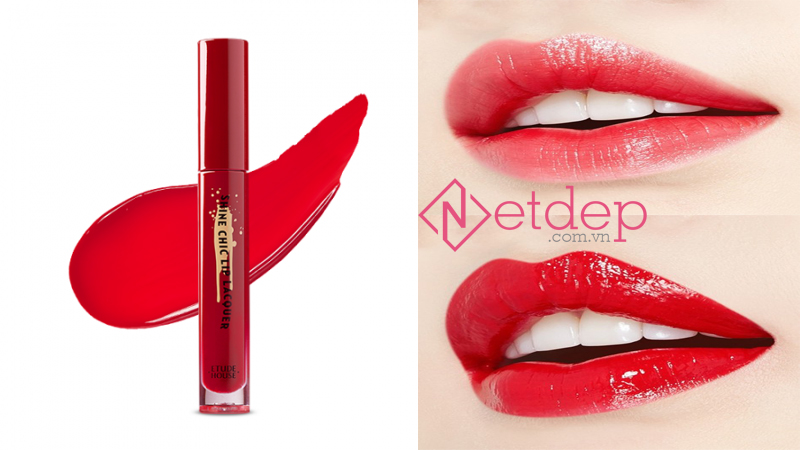 Son Etude House x Red Velvet Shine Chic Lip Lacquer RD302 Rainbow Boss