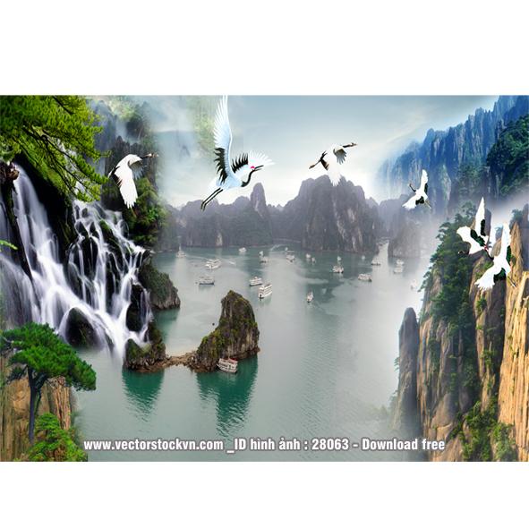 Tranh Phong Cảnh Thiên Nhiên in Tranh Miễn Phí