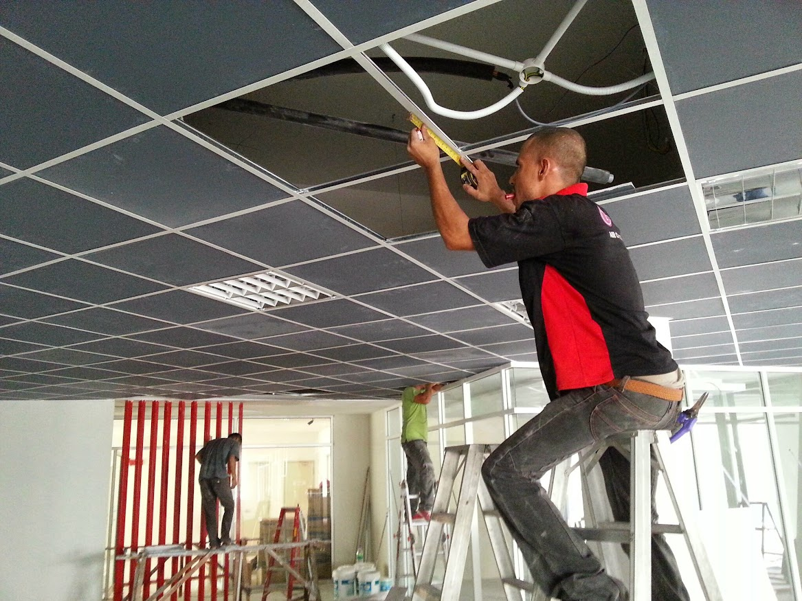 install ceiling cassette aircond