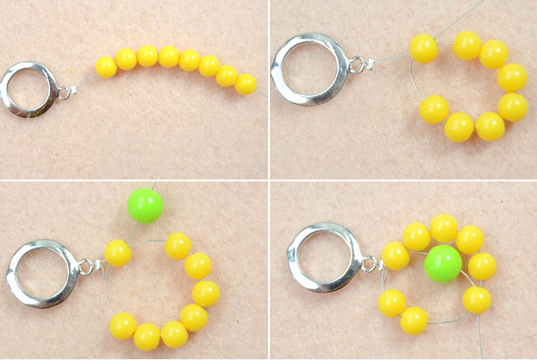 Beaded Yellow Flower Bracelet Tutorial