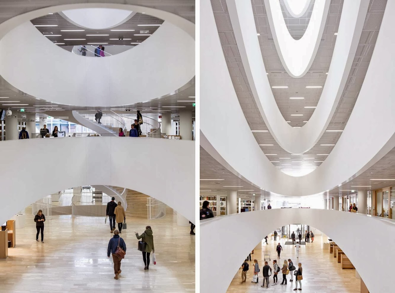 Helsinki University Main Library by Anttinen Oiva Architects
