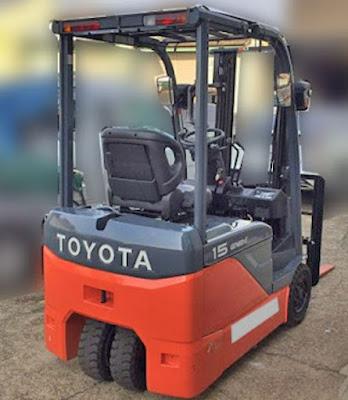 Xe nâng điện Toyota 1.5 tấn cao 4.3m 4.5m 4.7m