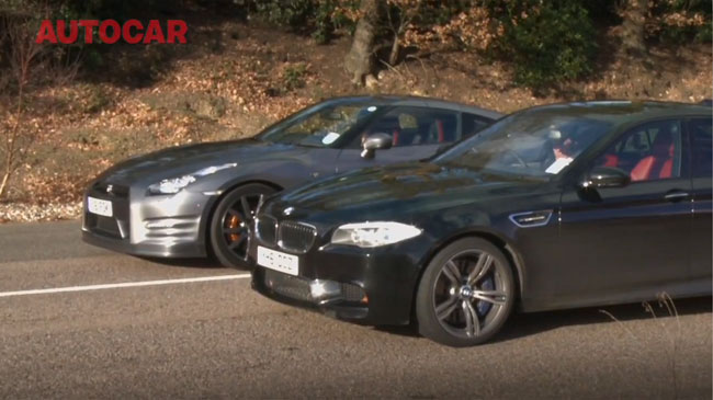 BMW M5 2012 vs Nissan GT-R 2012