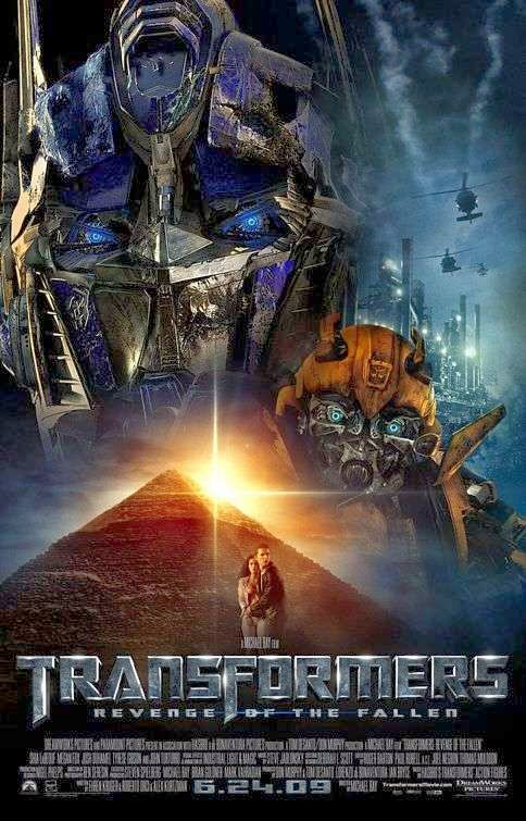 Poster Of Transformers: Revenge of the Fallen (2009) Full Movie Hindi Dubbed Free Download Watch Online At Alldownloads4u.Com