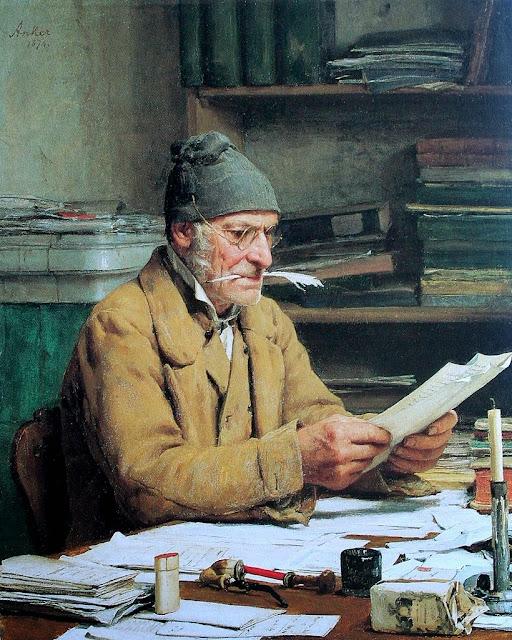Albert Anker - Der Gemeindeschreiber