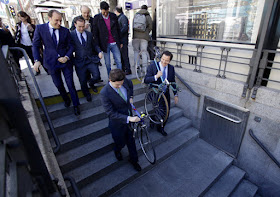Nuevo horario de acceso en bicicletas a la red de Metro desde abril de 2015